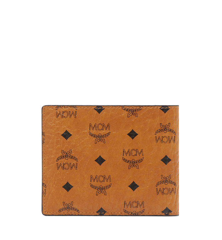 MCM Bifold Wallet with Card Case in Visetos Cognac MXS8SVI35CO001 Alternate View 3