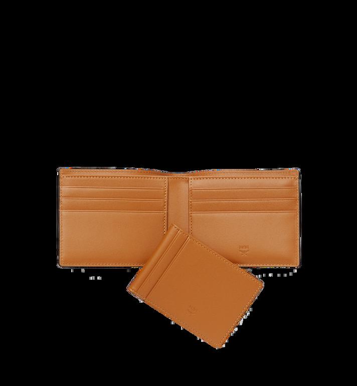 MCM Bifold Wallet with Card Case in Visetos Cognac MXS8SVI35CO001 Alternate View 5