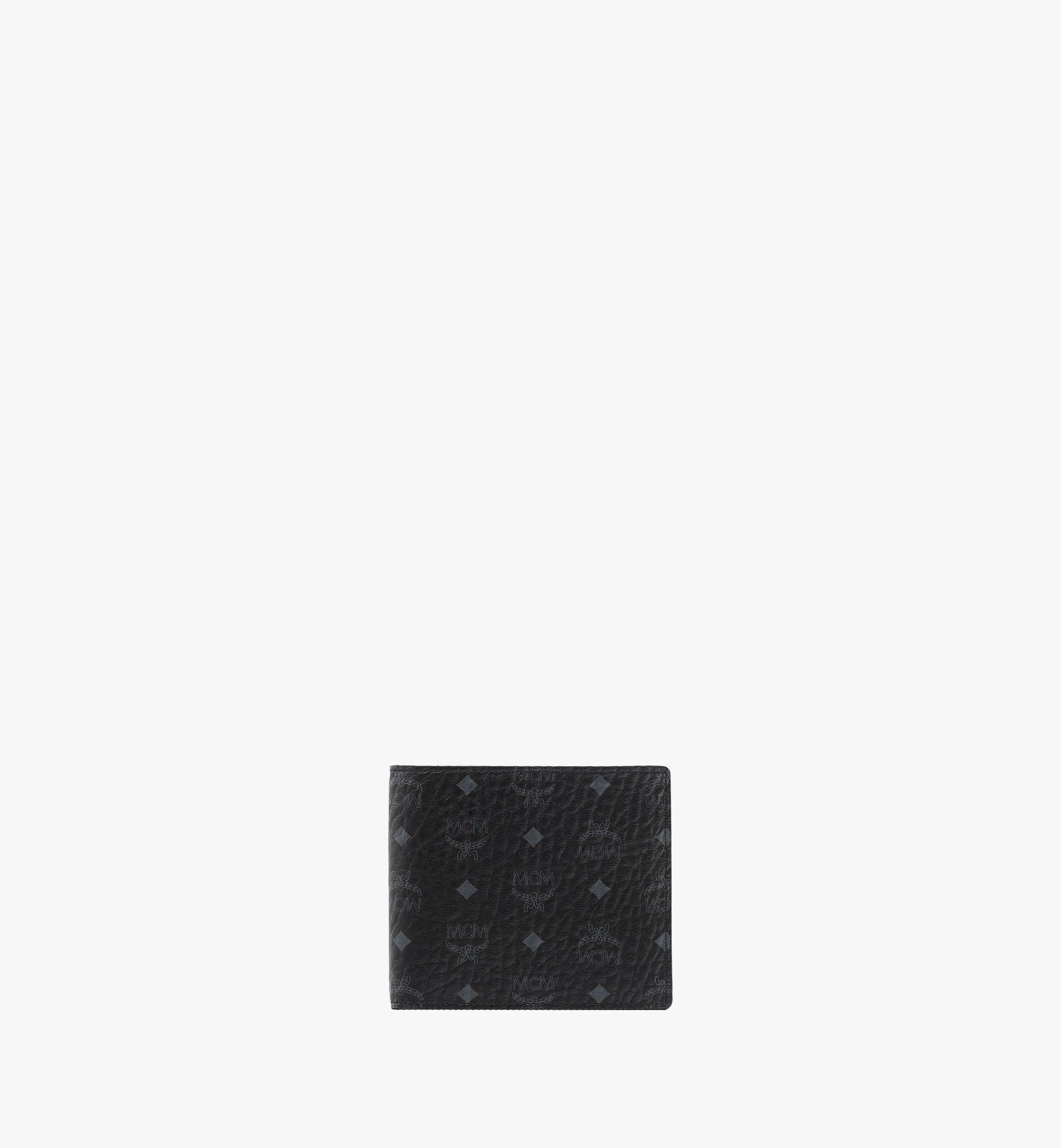 MCM Bifold Wallet in Visetos Original Black MXS8SVI63BK001 Alternate View 1