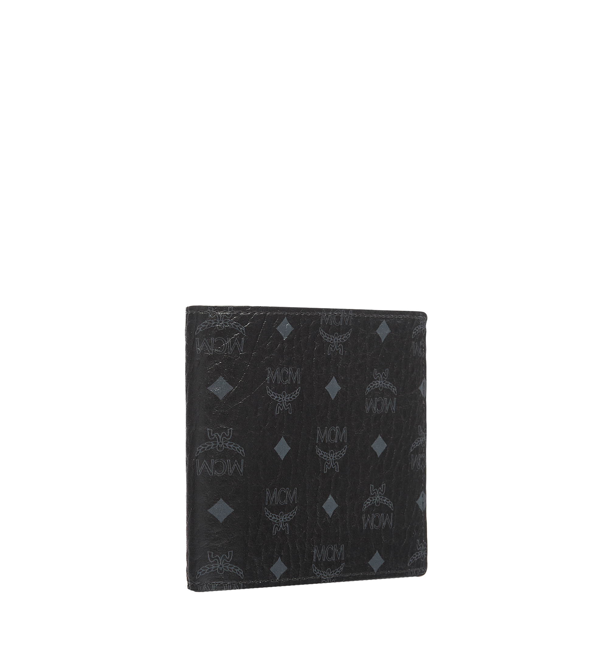 MCM Bifold Wallet in Visetos Original Black MXS8SVI63BK001 Alternate View 2