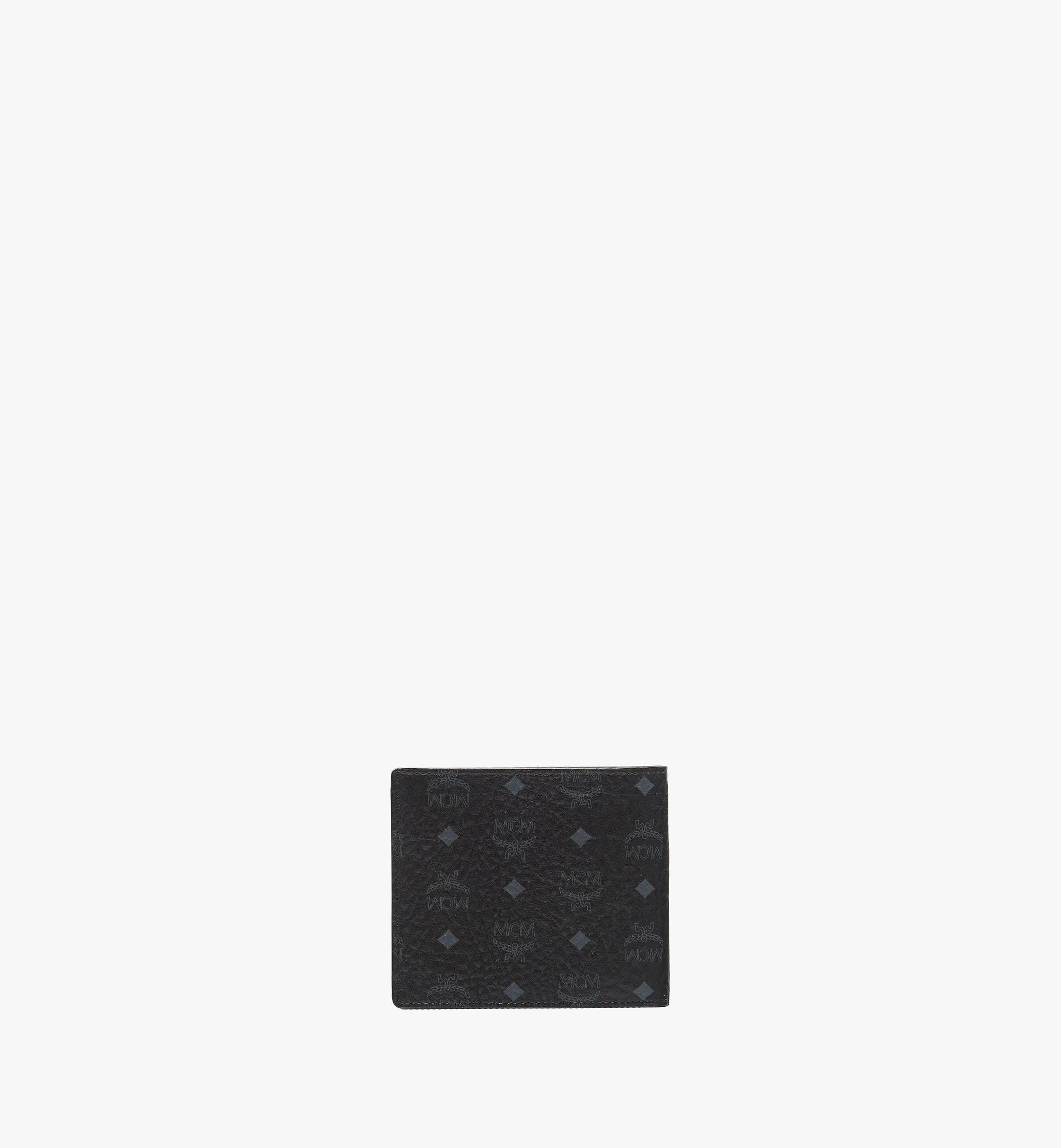 MCM Bifold Wallet in Visetos Original Black MXS8SVI63BK001 Alternate View 3