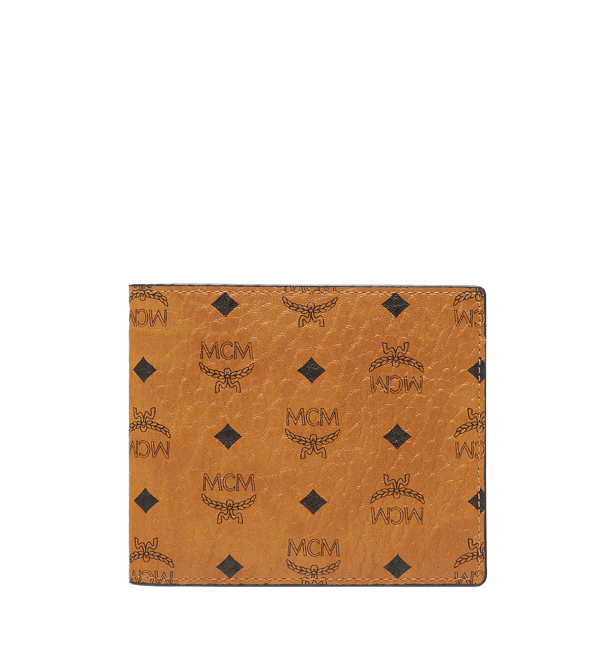 MCM Bifold Wallet in Visetos Original Cognac MXS8SVI63CO001 Alternate View 1