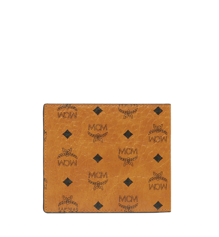 MCM Bifold Wallet in Visetos Original Cognac MXS8SVI63CO001 Alternate View 3