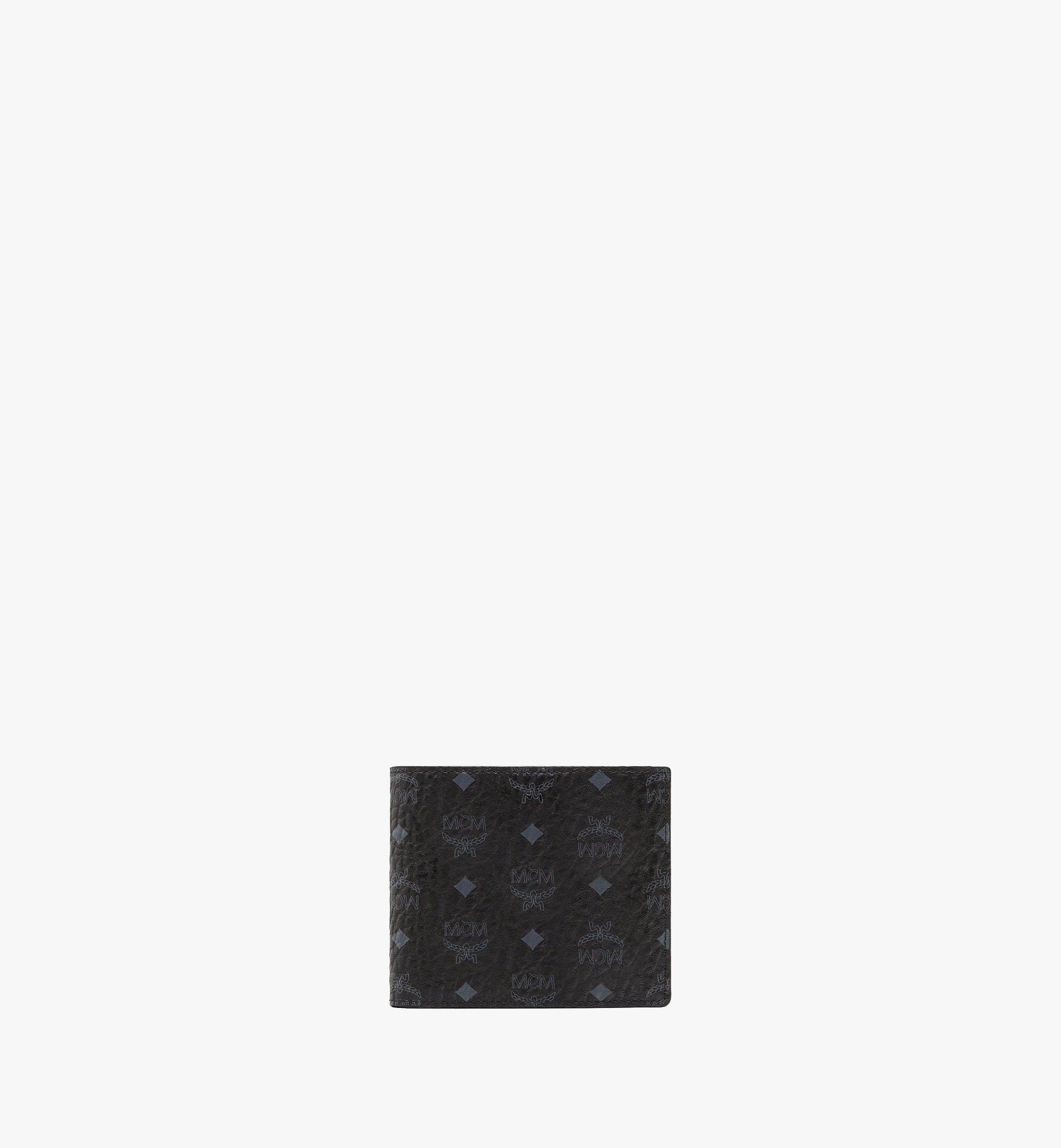 MCM Original gefaltete Brieftasche in Visetos Black MXS8SVI66BK001 Alternate View 1
