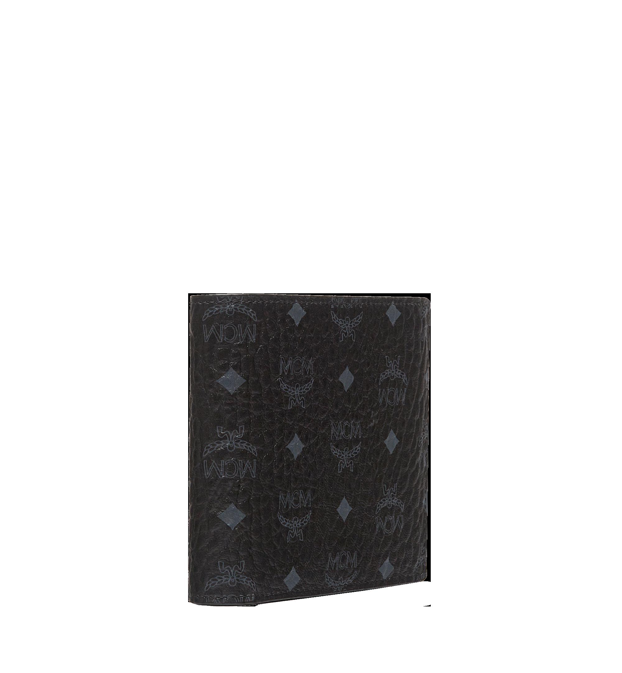 MCM Original gefaltete Brieftasche in Visetos Black MXS8SVI66BK001 Alternate View 2