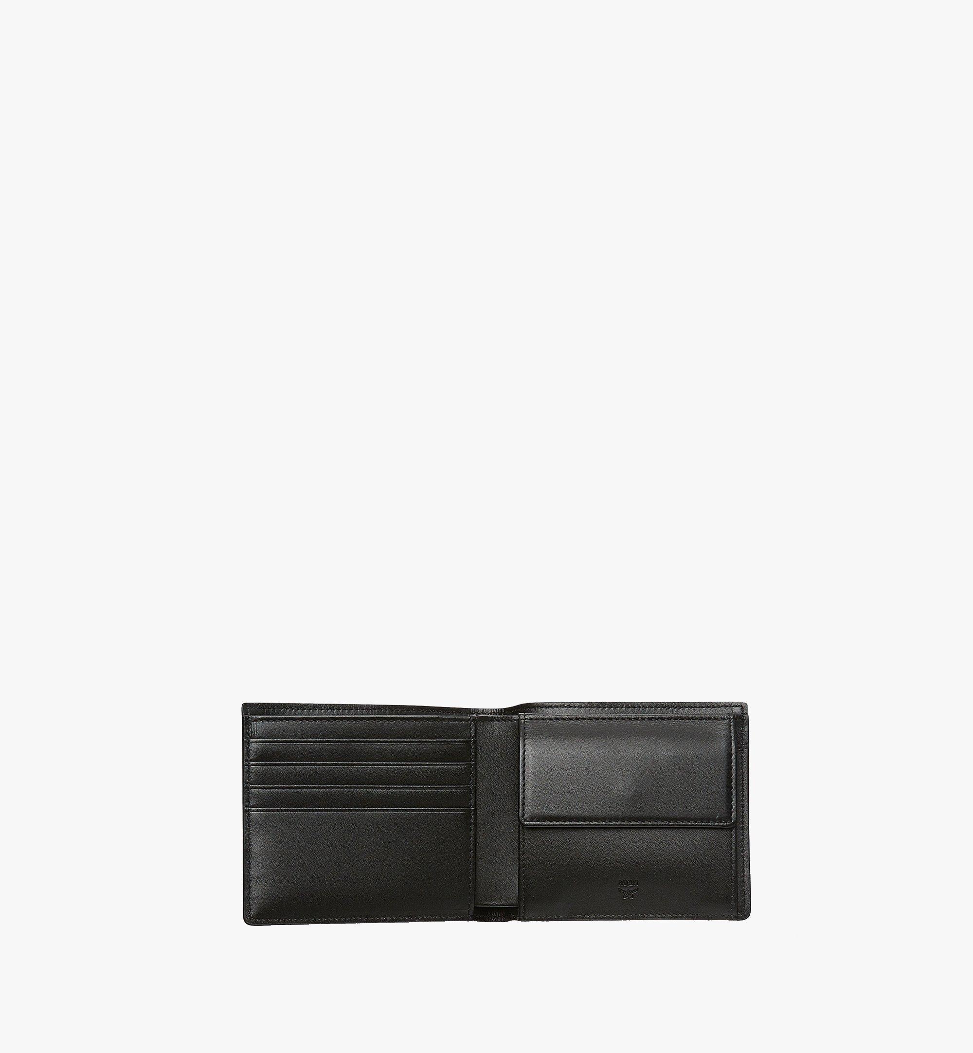 MCM Original gefaltete Brieftasche in Visetos Black MXS8SVI66BK001 Alternate View 4