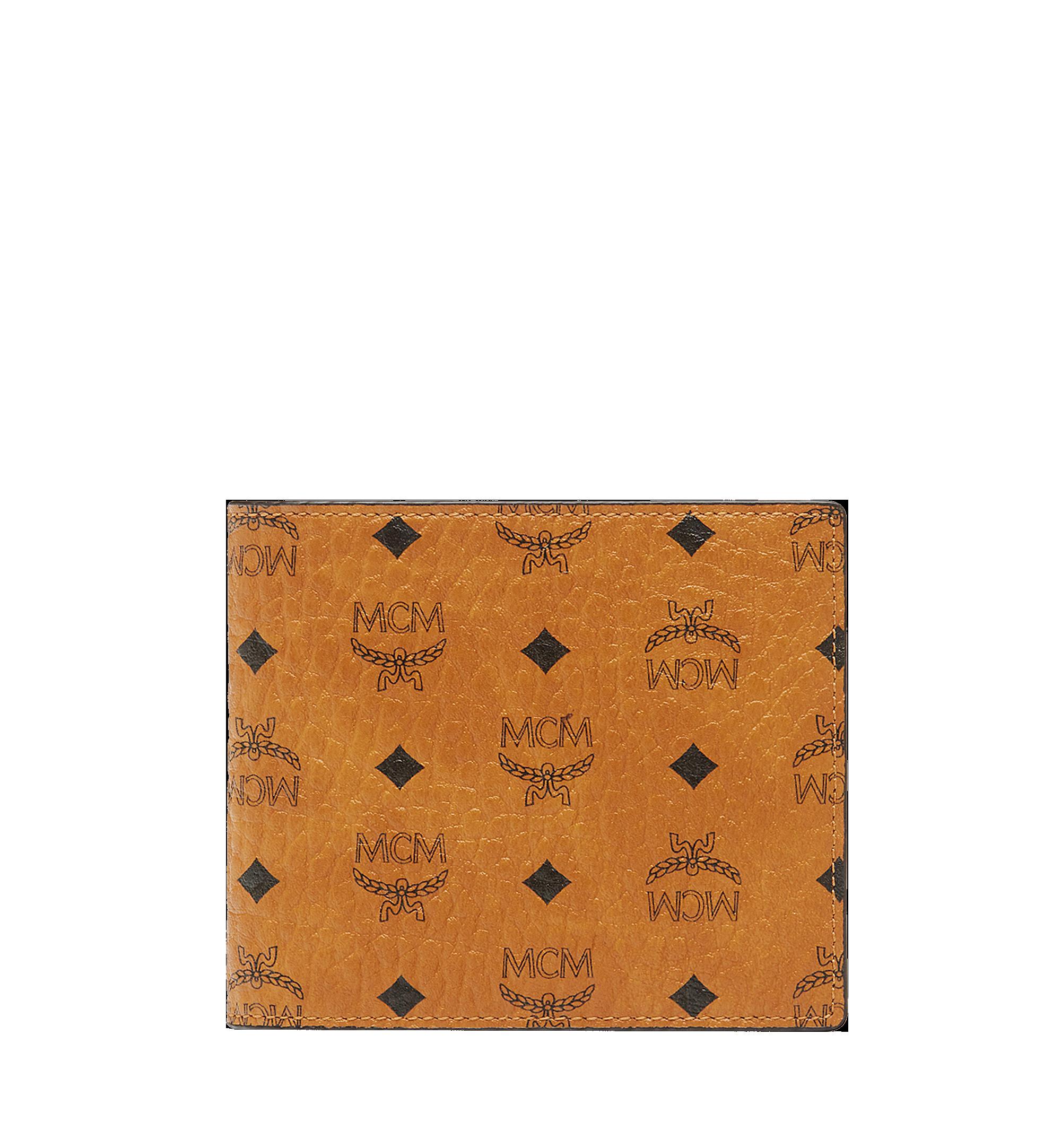 MCM Bifold Coin Wallet in Visetos Original Cognac MXS8SVI66CO001 Alternate View 1