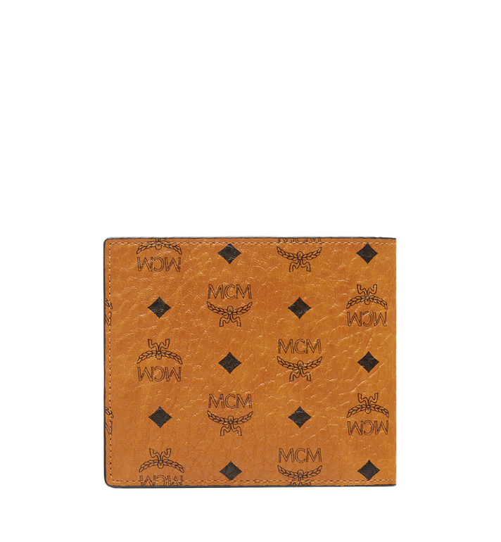MCM Bifold Coin Wallet in Visetos Original Cognac MXS8SVI66CO001 Alternate View 3