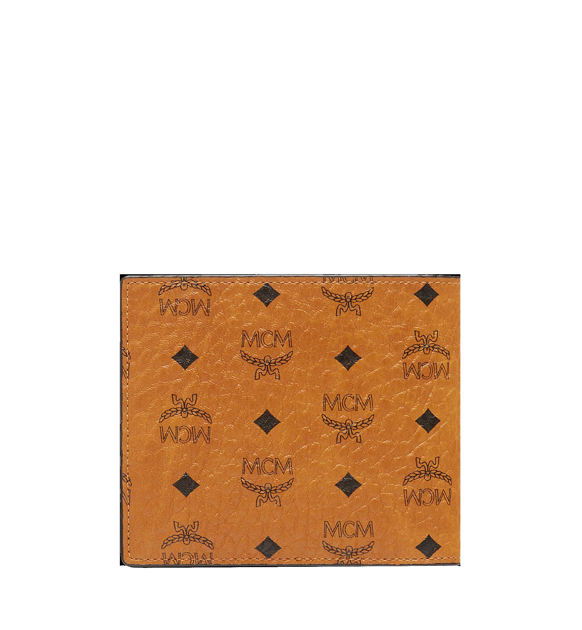 MCM Bifold Coin Wallet in Visetos Original Cognac MXS8SVI66CO001 Alternate View 3