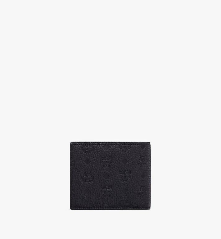 MCM Bifold Wallet in Tivitat Leather Black MXS9ABT23BK001 Alternate View 2