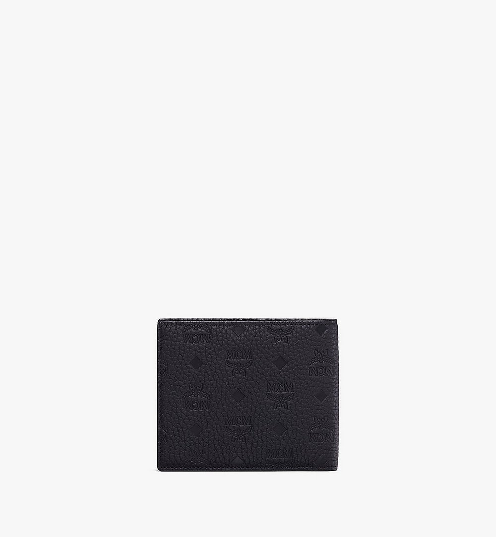 MCM Tivitat Bifold Wallet in Monogram Leather Black MXS9ABT23BK001 Alternate View 1