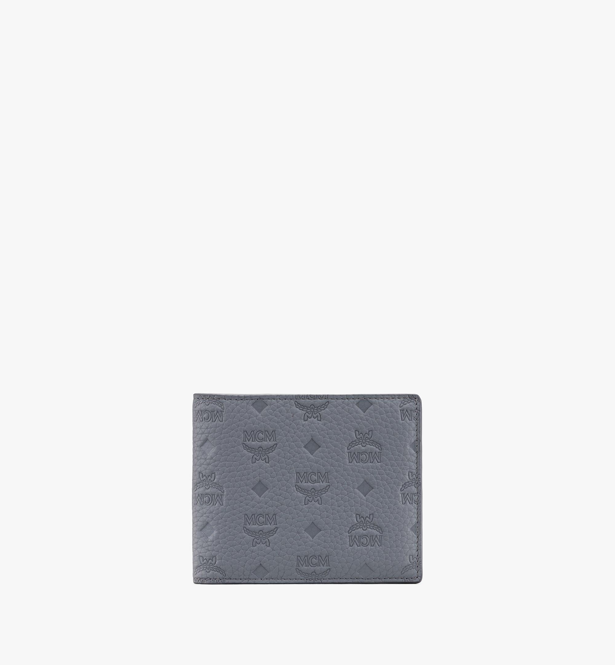 MCM 組合圖案皮革的 Tivitat 雙折錢包 Grey MXS9ABT23FK001 更多視圖 1