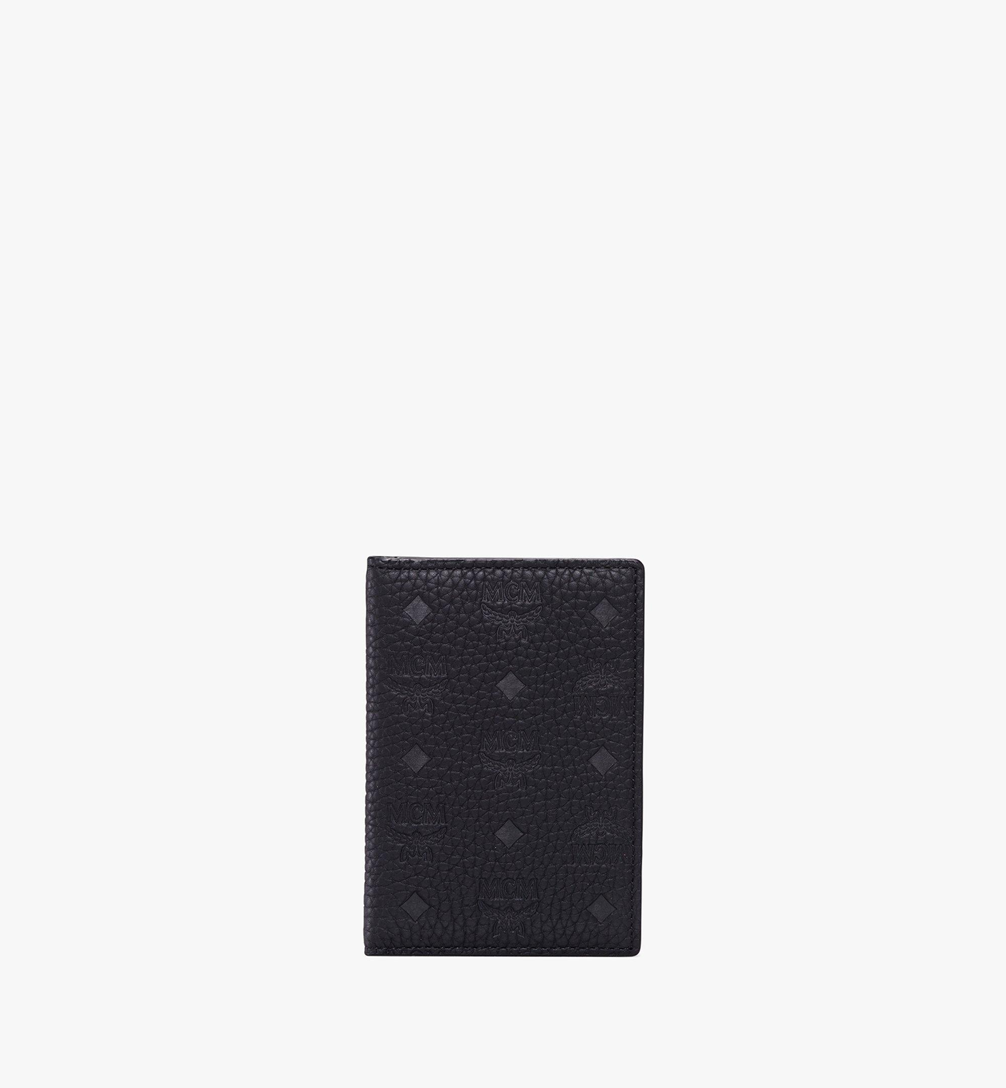MCM Tivitat Two-Fold Card Wallet in Monogram Leather Black MXS9ABT25BK001 Alternate View 1