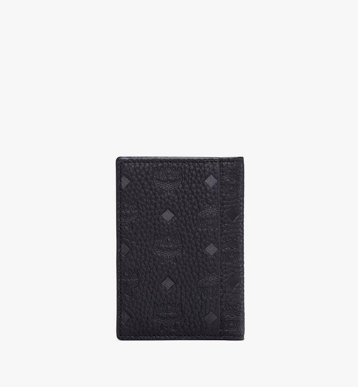 MCM Tivitat Two-Fold Card Wallet in Monogram Leather Black MXS9ABT25BK001 Alternate View 2