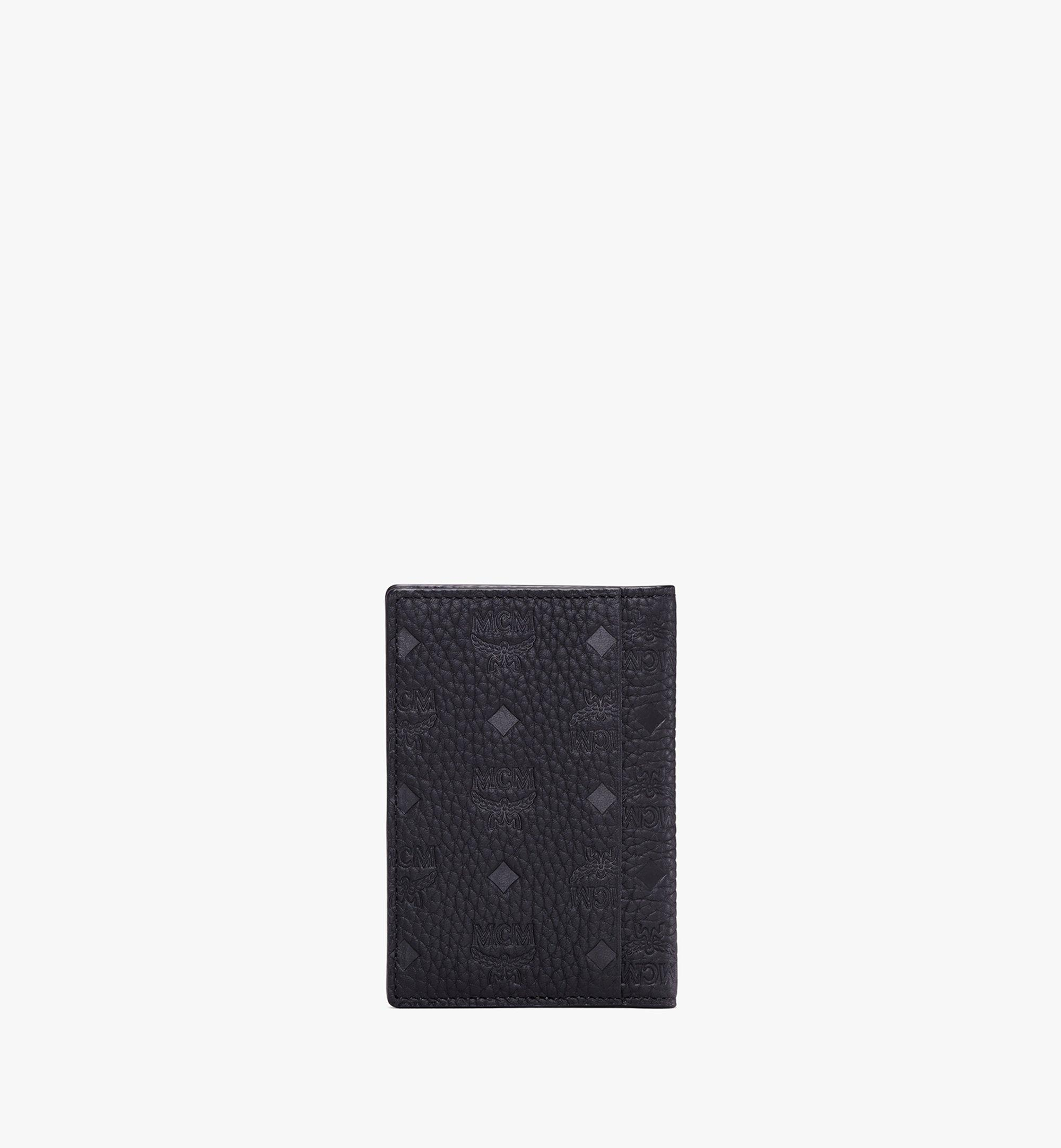 MCM Tivitat Two-Fold Card Wallet in Monogram Leather Black MXS9ABT25BK001 Alternate View 3