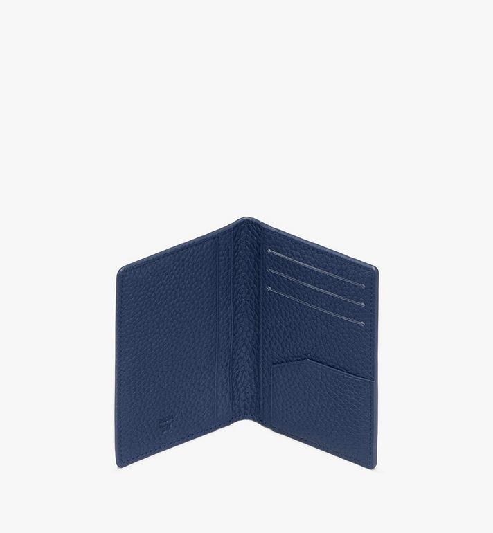 MCM Tivitat Two-Fold Card Wallet in Monogram Leather Blue MXS9ABT25VA001 Alternate View 3