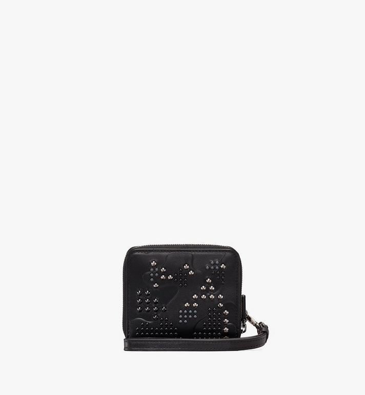 MCM Zip Wallet in Studded Lion Camo Black MXS9ACM04BK001 Alternate View 2