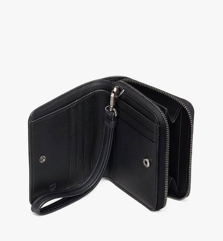 MCM Zip Wallet in Studded Lion Camo Black MXS9ACM04BK001 Alternate View 3