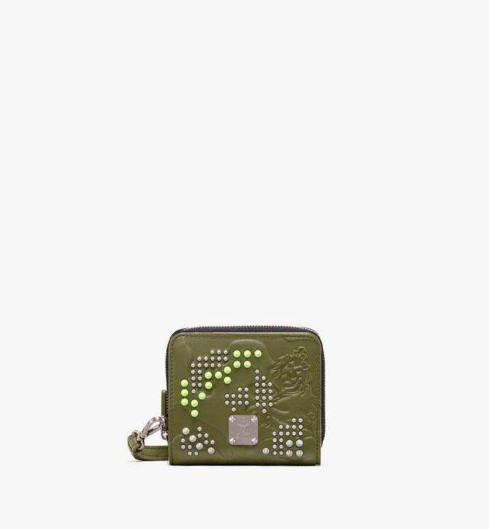 MCM Brieftasche in Studded Lion Camo mit Reissverschluss Alternate View