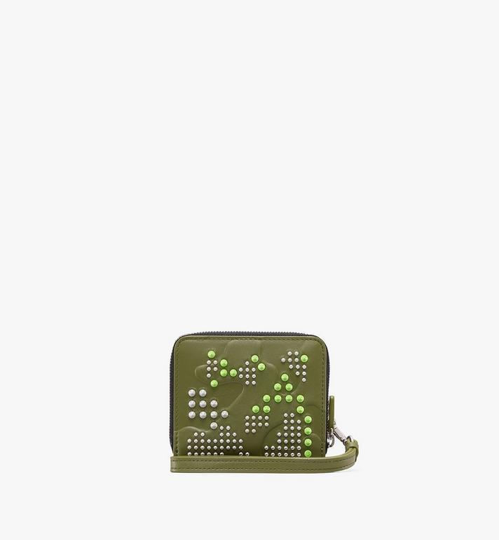 MCM Brieftasche in Studded Lion Camo mit Reissverschluss  MXS9ACM04G8001 Alternate View 2