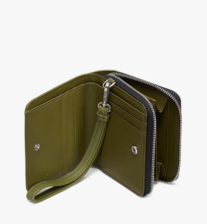 MCM Zip Wallet in Studded Lion Camo Green MXS9ACM04G8001 Alternate View 3