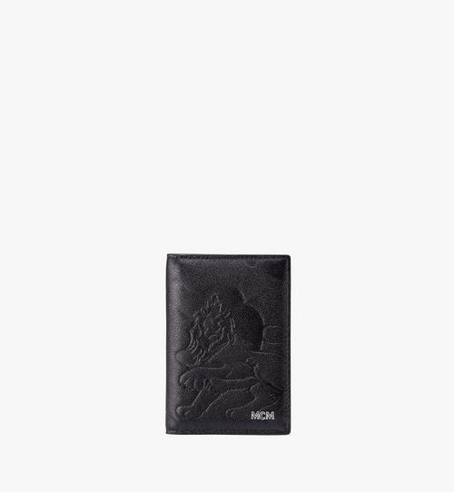 Two-Fold Card Wallet in Embossed Lion Camo