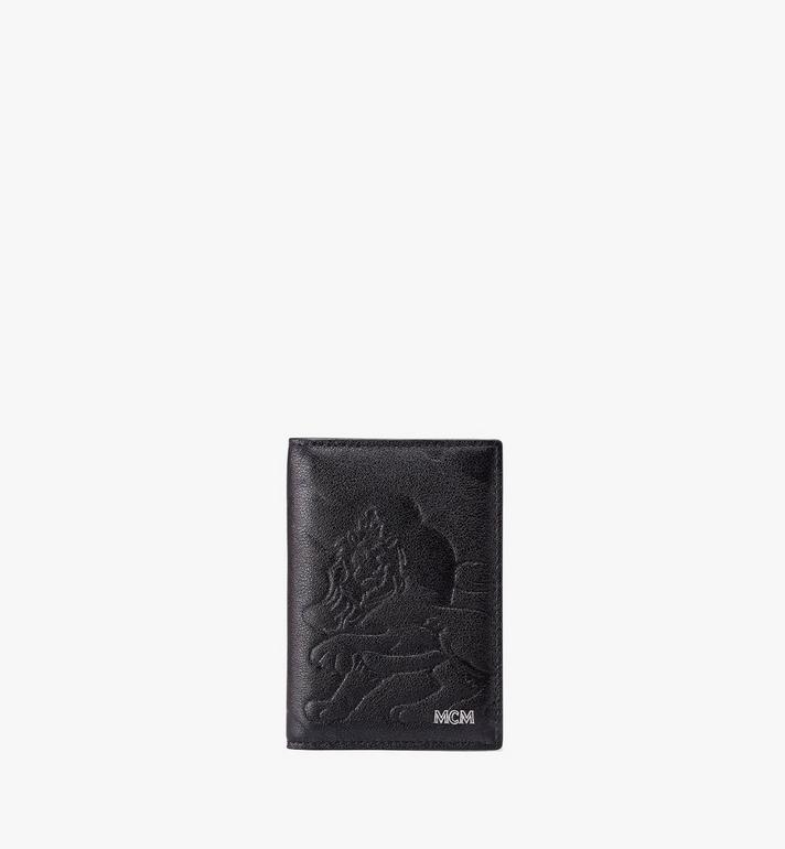 MCM Two-Fold Card Wallet in Embossed Lion Camo Alternate View