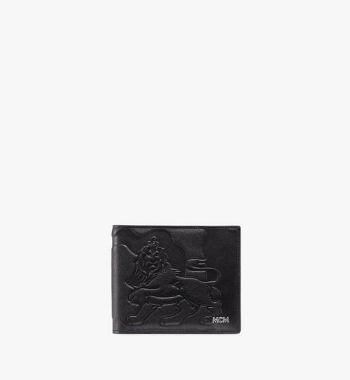 Gefaltete, geprägte Brieftasche in Lion Camo