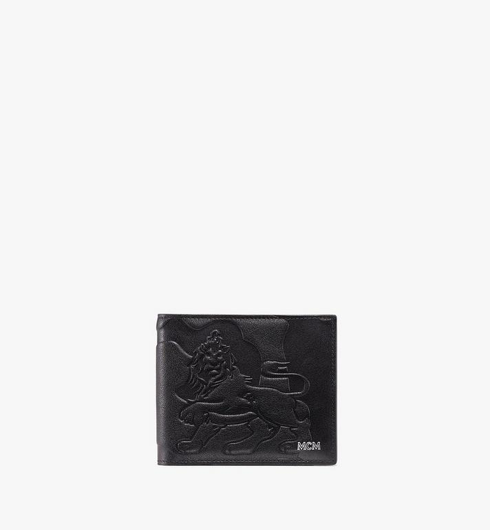 MCM Bifold Wallet in Embossed Lion Camo Alternate View 1