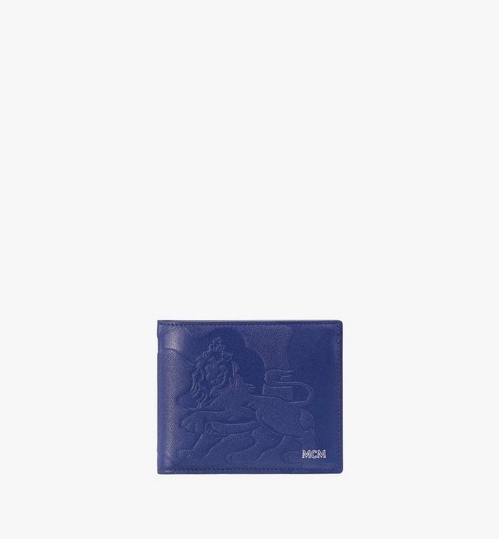 MCM Gefaltete, geprägte Brieftasche in Lion Camo Alternate View