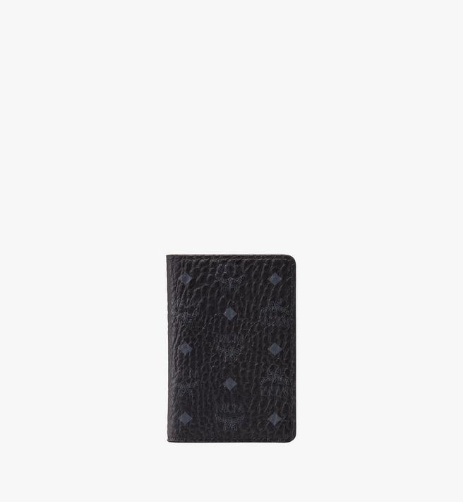 MCM Two Fold Card Wallet in Visetos Alternate View