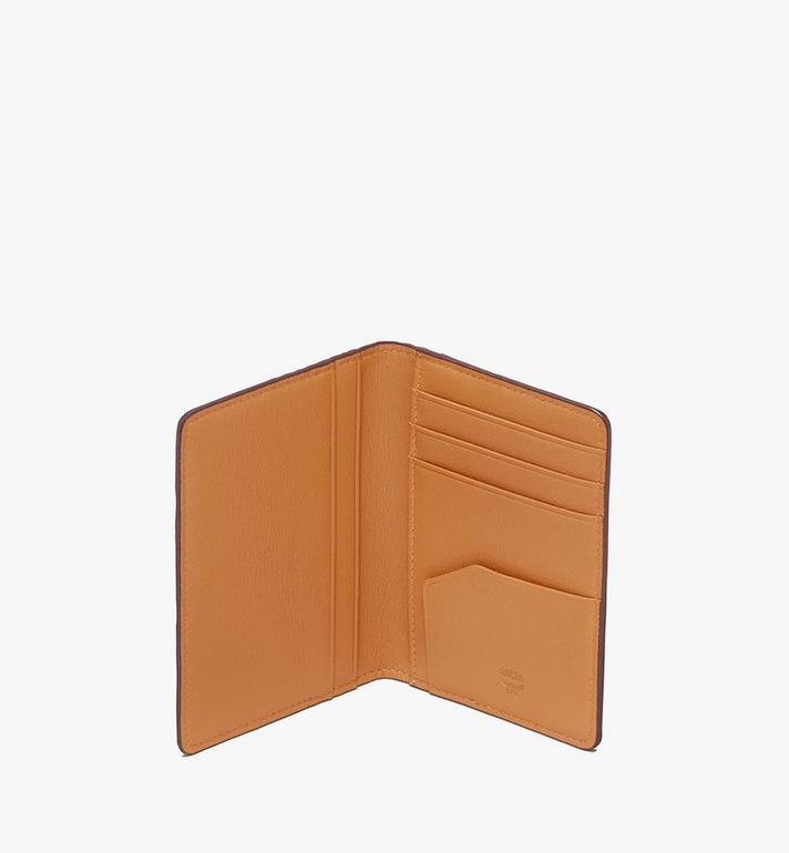 MCM Two Fold Card Wallet in Visetos Cognac MXS9AVI53CO001 Alternate View 4