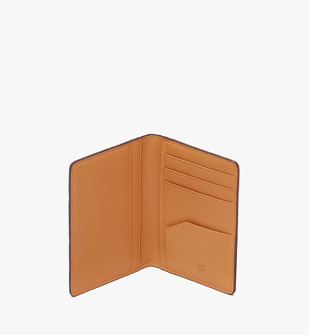 MCM Two-Fold Wallet in Visetos Cognac MXS9AVI53CO001 Alternate View 3
