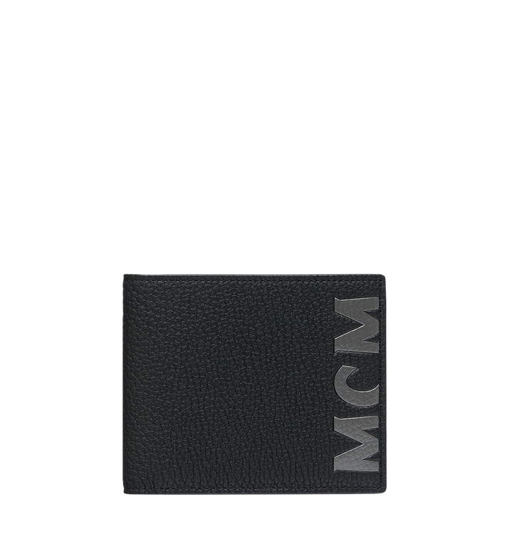 MCM Bifold Wallet in Logo Print Leather Alternate View