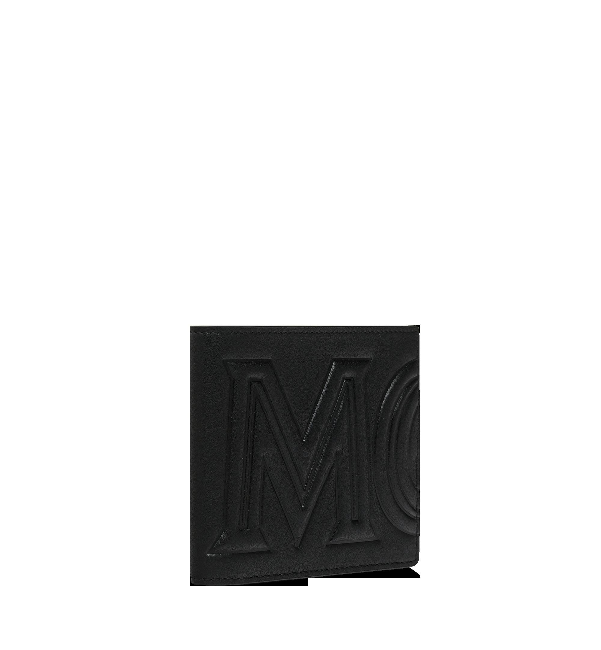 MCM Bifold Wallet in MCM Injection Logo Black MXS9SCL02BK001 Alternate View 1