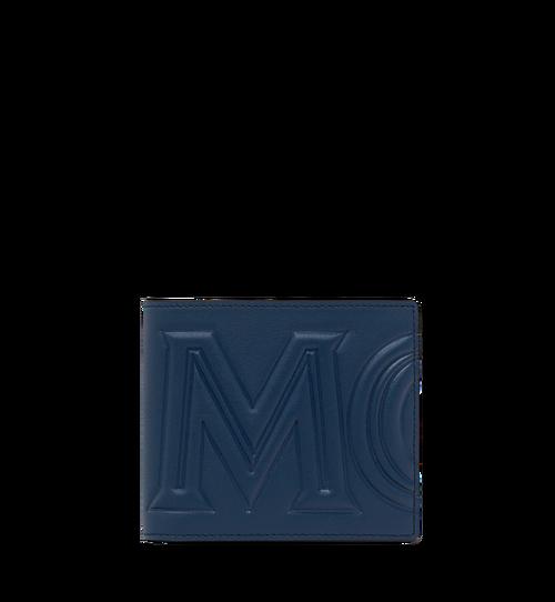 MCM 인젝션 로고 2단 반지갑