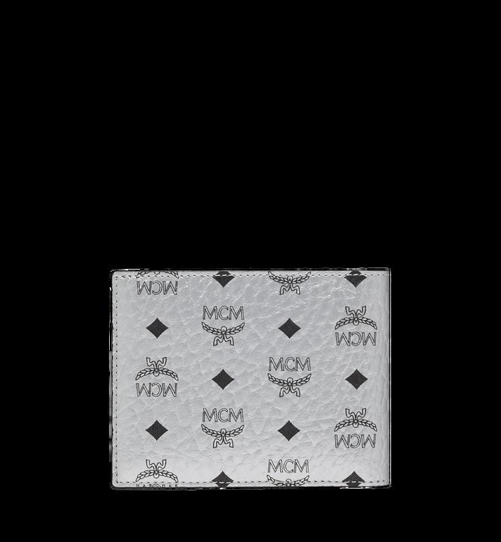 MCM Gefaltet mit Kartenfach in Visetos Original Silver MXS9SVI35SB001 Alternate View 3