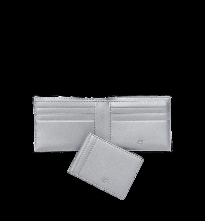 MCM Gefaltet mit Kartenfach in Visetos Original Silver MXS9SVI35SB001 Alternate View 5