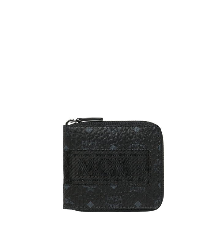 MCM Zip Around Wallet in Webbing Visetos MXS9SVI90BK001 AlternateView