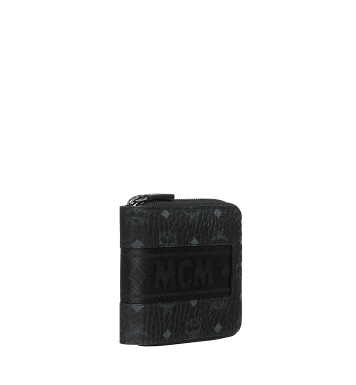 MCM Zip Around Wallet in Webbing Visetos MXS9SVI90BK001 AlternateView2