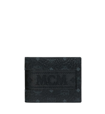 MCM Bifold with Card Case in Webbing Visetos MXS9SVI93BK001 AlternateView