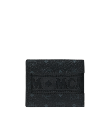 MCM Bifold with Card Case in Webbing Visetos MXS9SVI93BK001 AlternateView3