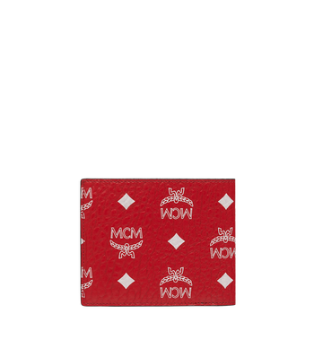 MCM Bifold Wallet in White Logo Visetos AlternateView3