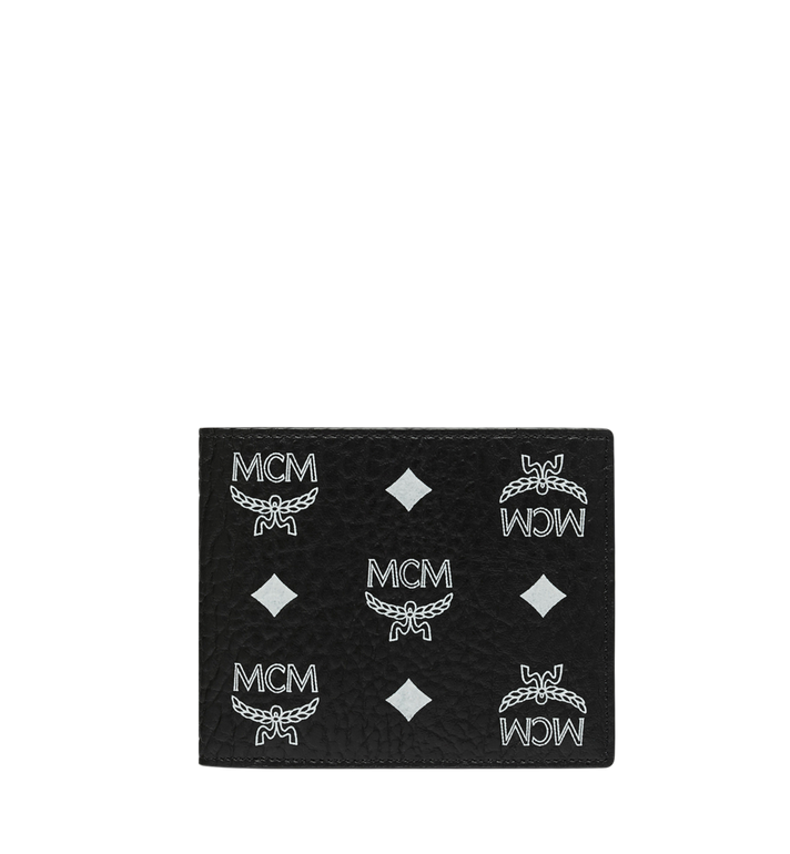 MCM Bifold Wallet in White Logo Visetos Alternate View