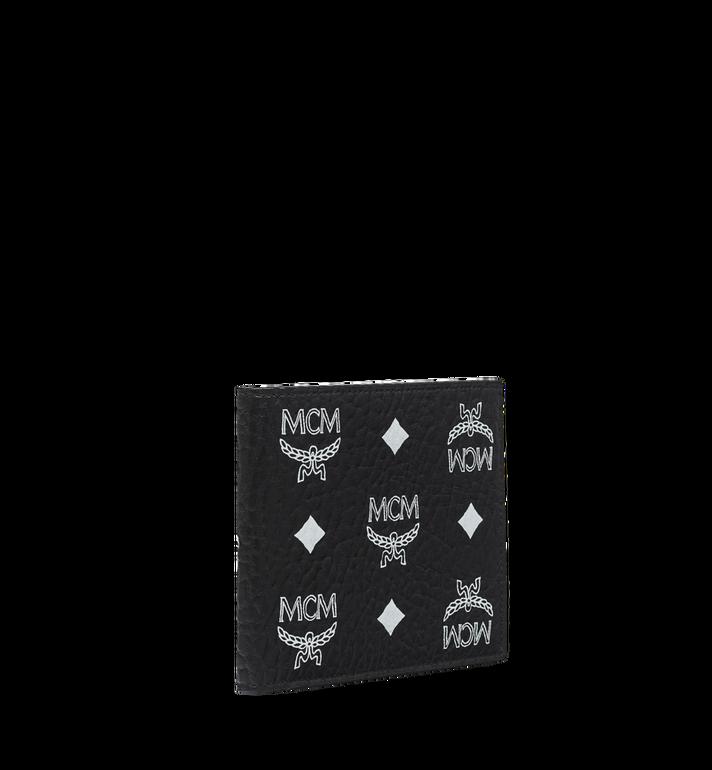 MCM Bifold Wallet in White Logo Visetos AlternateView2