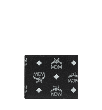 MCM Bifold Wallet in White Logo Visetos Alternate View 3
