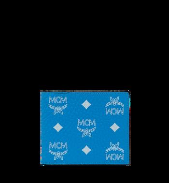 MCM Bifold Wallet in White Logo Visetos Alternate View