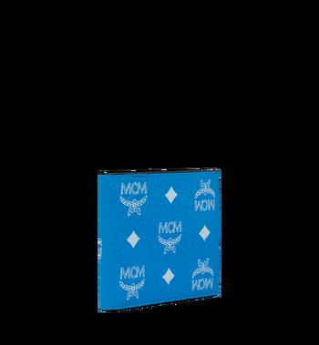 MCM Bifold Wallet in White Logo Visetos Alternate View 2