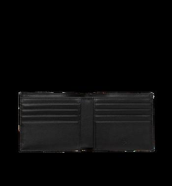 MCM Bifold Wallet in White Logo Visetos Alternate View 4