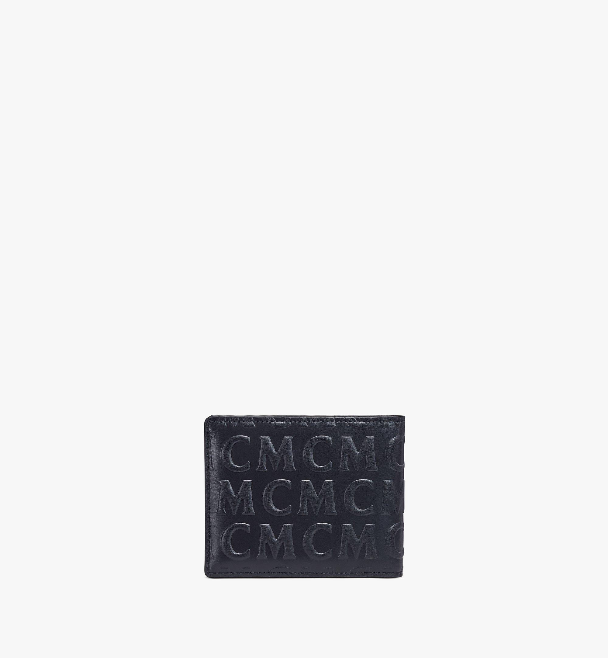 MCM Bifold Wallet in MCM Monogram Leather Black MXSAAMD01BK001 Alternate View 2